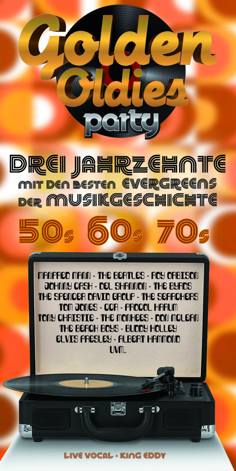 Golden Oldies Party – Evergreens – 50er 60er 70er Jahre mit King Eddy - Profi Live Band-Tribute Show Künstler-Duo Musiker Sänger für Events, Show- & Unterhaltungskünstler für Feier, Events, Veranstaltung buchen oder engagieren